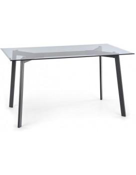 Jídelní stůl Hub 140 x 80 cm černý