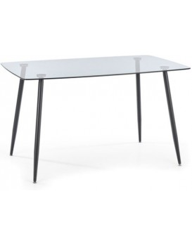 Skleněný jídelní stůl Sparkle 130 x 80 cm černý