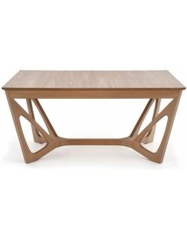 Rozkládací jídelní stůl Udina 160-240x100 cm hnědý