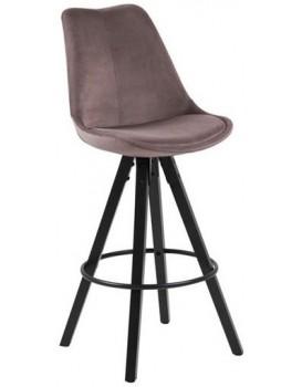 Barová stolička Dema tmavoružová/čierna