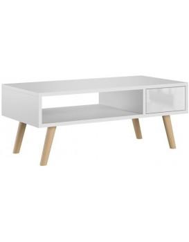 Konferenčný stolík Calvados II biely lesklý