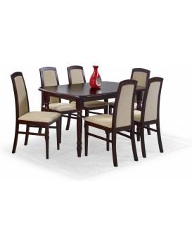 Rozkládací jídelní stůl Arnold tmavý ořech
