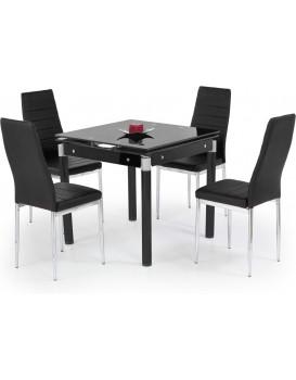 Rozkladací jedálenský stôl Kent 2 čierny