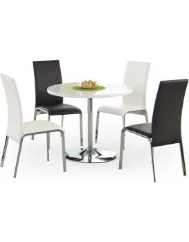 Kulatý jídelní stůl Osmar bílý