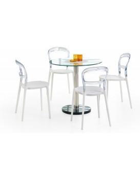 Jedálenský stôl Cyril 80 cm strieborný