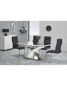 Rozkládací jídelní stůl Sandoria černý/bílý