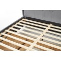 Čalúnená posteľ Sabrina 160x200 dvojposteľ šedá