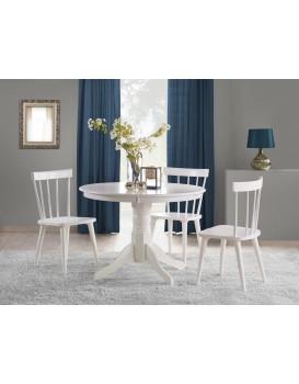 Kulatý jídelní stůl Gloster bílý