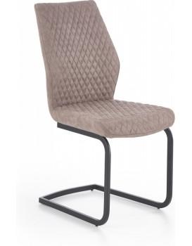Jídelní židle Rina tmavě béžová/černá