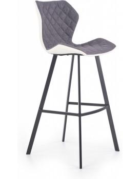 Barová židle Syria šedá/bílá