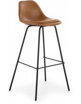 Barová stolička Richard čierna/svetlohnedá