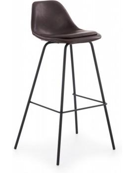 Barová stolička Ivy8 tmavohnedá