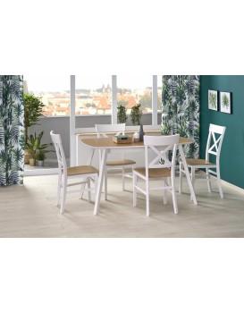 Rozkládací jídelní stůl Kajetan2 135/185 dub medový/bílá