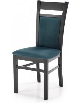 Jídelní židle Genrad černá/tmavě zelená
