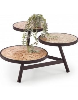 Konferenční stolek Nathura 2 přírodní dřevo/černá