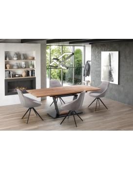 Rozkládací jídelní stůl Urbin dub zlatý/černá