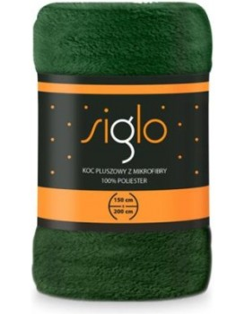 Deka z mikroplyšu Siglo 150x200 cm zelená
