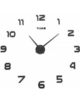 Nástenné hodiny DIY NEPRI 65 - 130 cm - čierne 3D