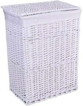 Prútený kôš na bielizeň - biely 114 L