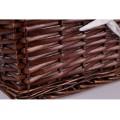 Prútený košík 30 × 20 × 15 cm - hnedý