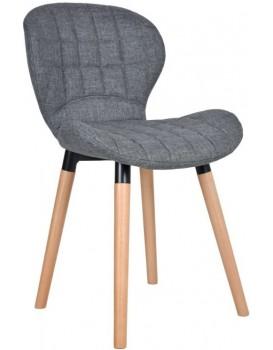 Jedálenská stolička Malmo - tmavosivá