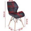 Čalúnená stolička Rennes – čierna