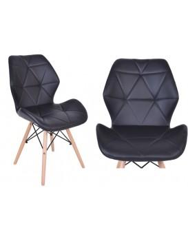 Čalúnená stolička Rennes - čierna