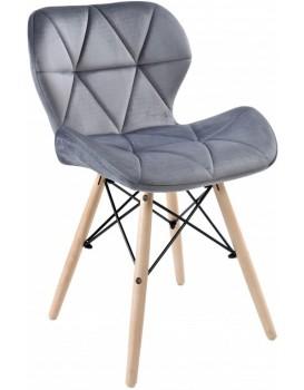 Čalúnená stolička MURET VELVET - sivá