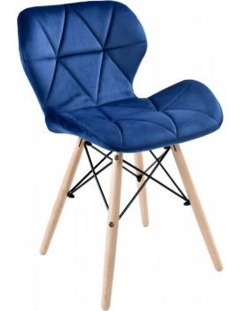 Čalouněná židle MURET VELVET - námořnická modř