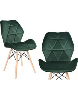 Čalouněná židle RENNES VELVET - tmavě zelená