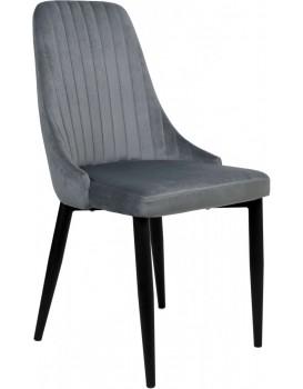 Židle LORIENT VELVET šedá