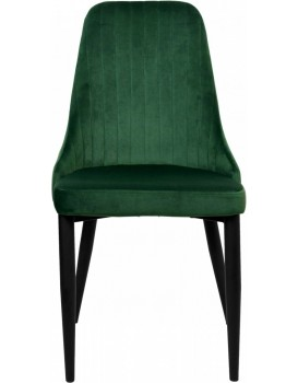 Židle LORIENT VELVET tmavě zelená