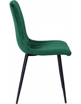 Čalouněná židle FRESNO tmavě zelená