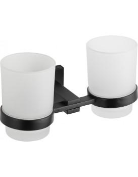 Dva poháre na zubnú kefku s rukoväťou MEXEN VANE čierne
