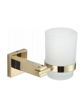 Sklenička na zubní kartáčky s úchytem MEXEN VANE zlatá
