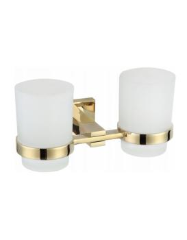 Dva poháre na zubnú kefku s rukoväťou MEXEN VANE zlaté