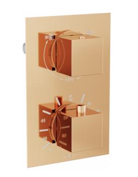 Termostatická podomítková baterie MEXEN CUBE vanovo - sprchová rose gold