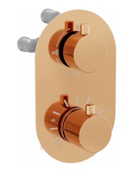 Termostatická podomítková baterie MEXEN KAI I vanovo - sprchová rose gold