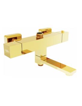 Termostatická vanovo - sprchová baterie MEXEN CUBE zlatá