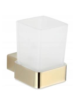 Sklenička na zubní kartáčky MEXEN PAVO zlatá