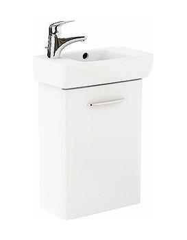 Umývadlová skrinka s umývadlom KOŁO NOVA PRO ľavá - biely lesk
