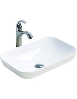 Keramické umývadlo na dosku MEXEN NINA  51x34 cm biele