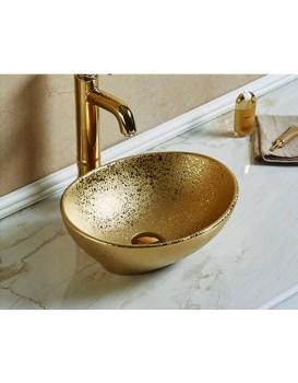 Keramické umyvadlo na desku MEXEN ELZA  40 zlaté