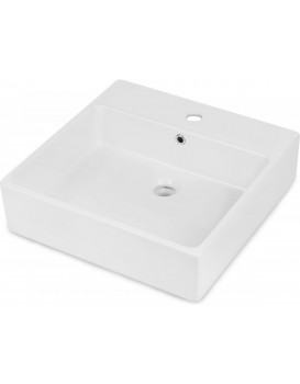 Keramické umyvadlo na desku DEANTE TEMISTO 50x50 cm bílé