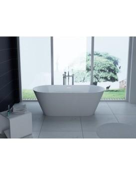 Akrylátová vaňa Mexen FLAVIA 150 × 75 cm biela + automatický výpust 54031507500
