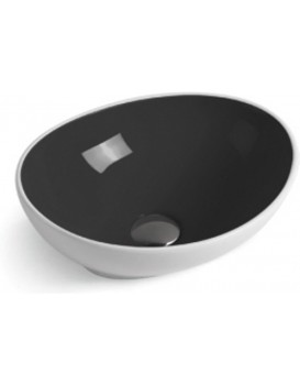 Keramické umývadlo na dosku Mexen ELZA 40 × 33 cm bielo-čierna
