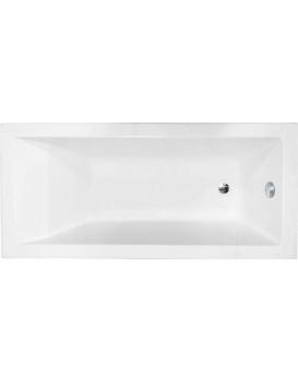 Akrylátová vaňa Mexen CUBIK 150 × 70 cm biela + automatický výpust