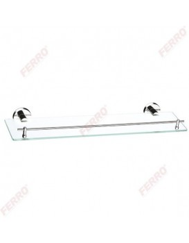 Koupelnová police FERRO GRACE sklo/chrom