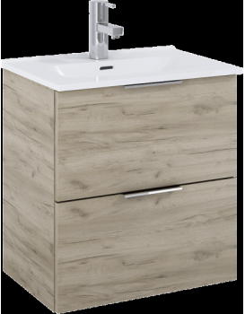 Umyvadlová skříňka s umyvadlem ELITA STREET PLUS 50 2S - šedý dub