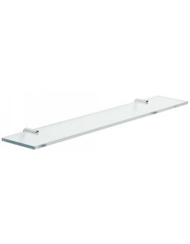 Koupelnová police TRES LOFT TRES 60 cm chrom/sklo